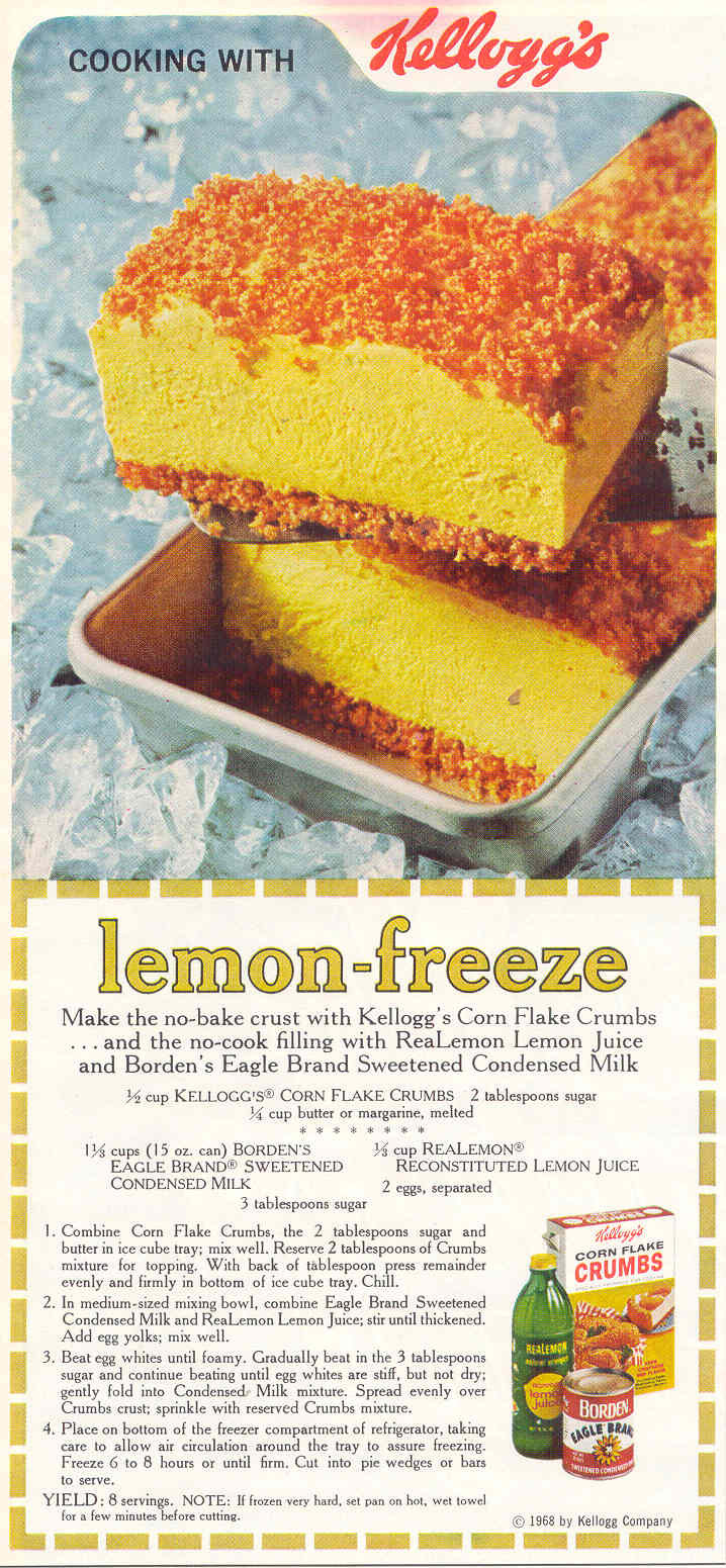 Lemon Freeze Recipe