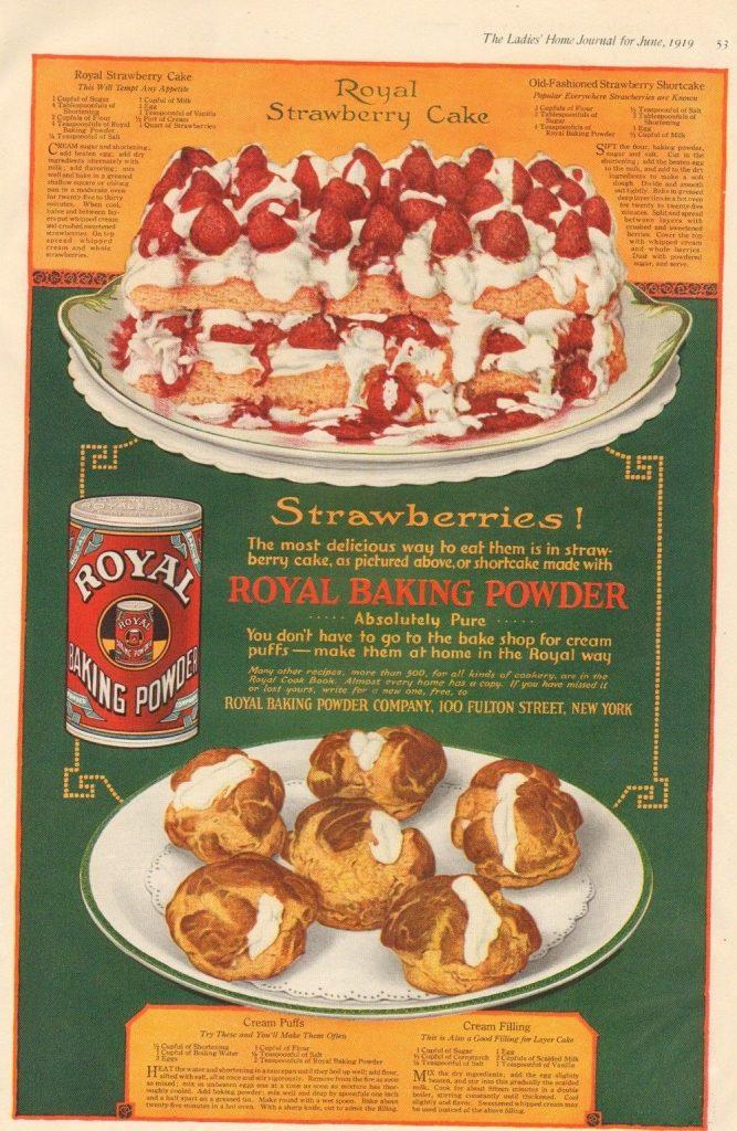 vintage strawberry desserts