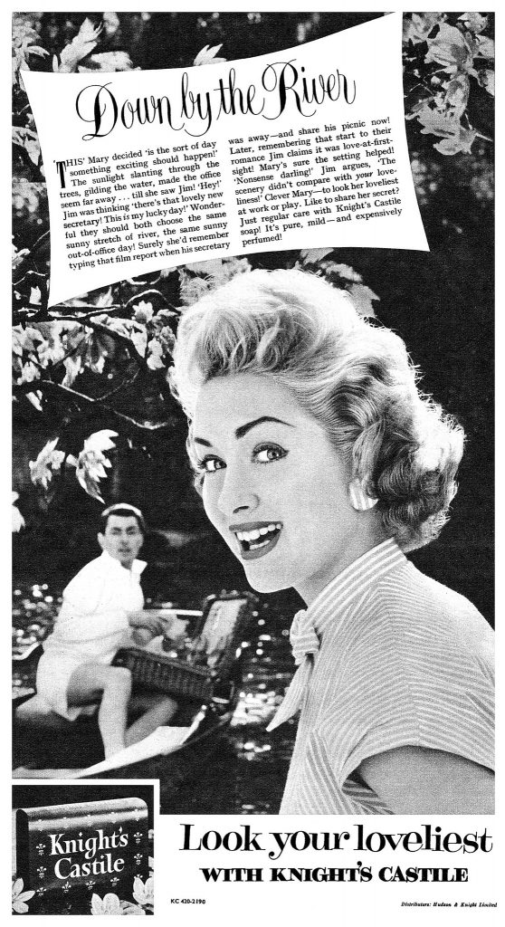 Uses for Castile Soap. 1956 Knights ad.