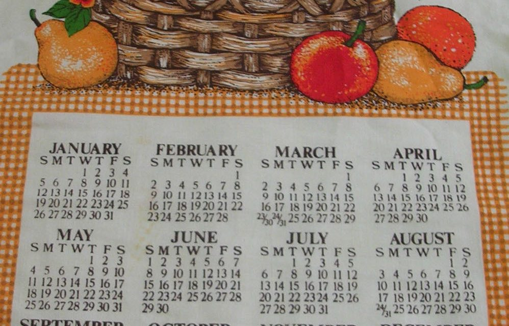 Dish Towel Calendars
