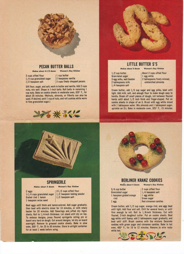 Christmas Cookie Recipes. Pecan butter balls. Springerle