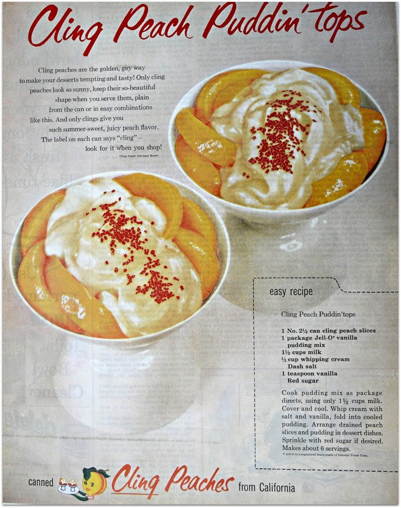 Peach Pudding Tops