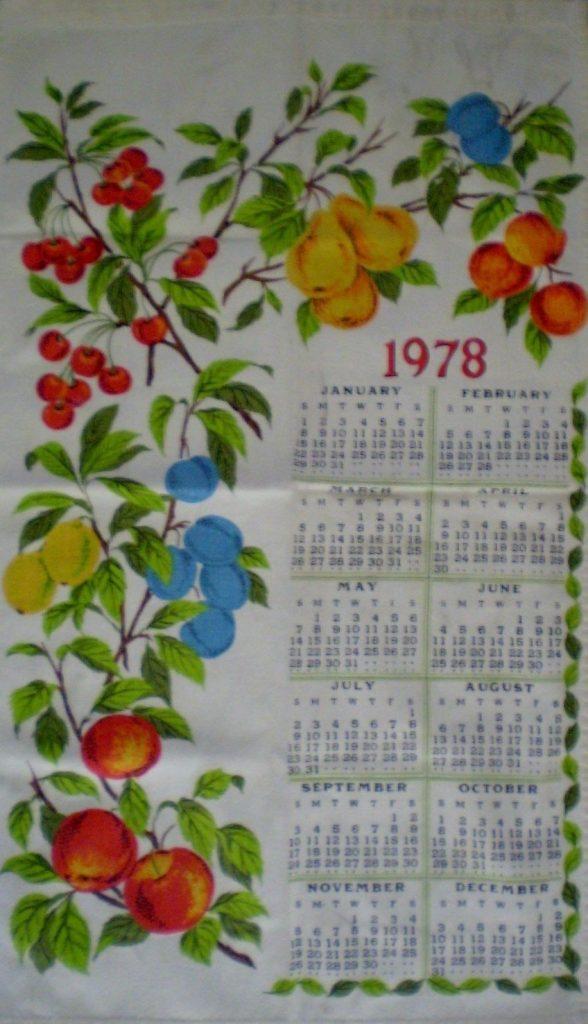Dish Towel Calendars Frugal Sos