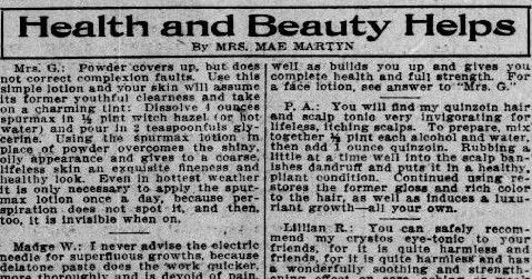 Nostrums and Quackery: Examples of Prescription Fakes in Newspapers 1912
