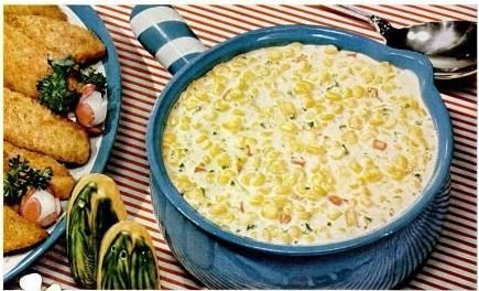 Irish Corn Recipe-With cream, pimento, parsley