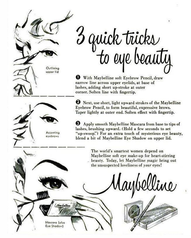 1950s Eye Makeup Tips
