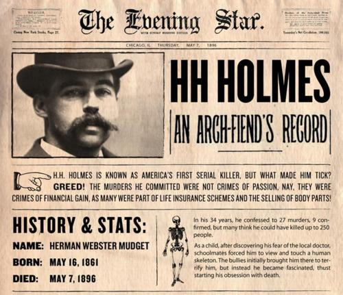 Serial killer H H Holmes hanged for his many crimes