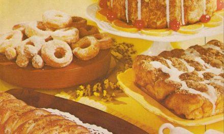 Vintage coffeecake, sweet rolls and doughnuts recipes