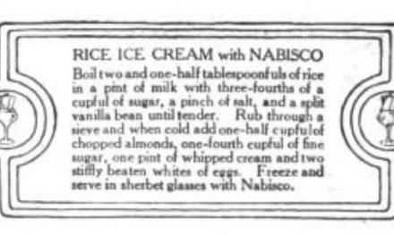 Vintage Rice Ice Cream 1916