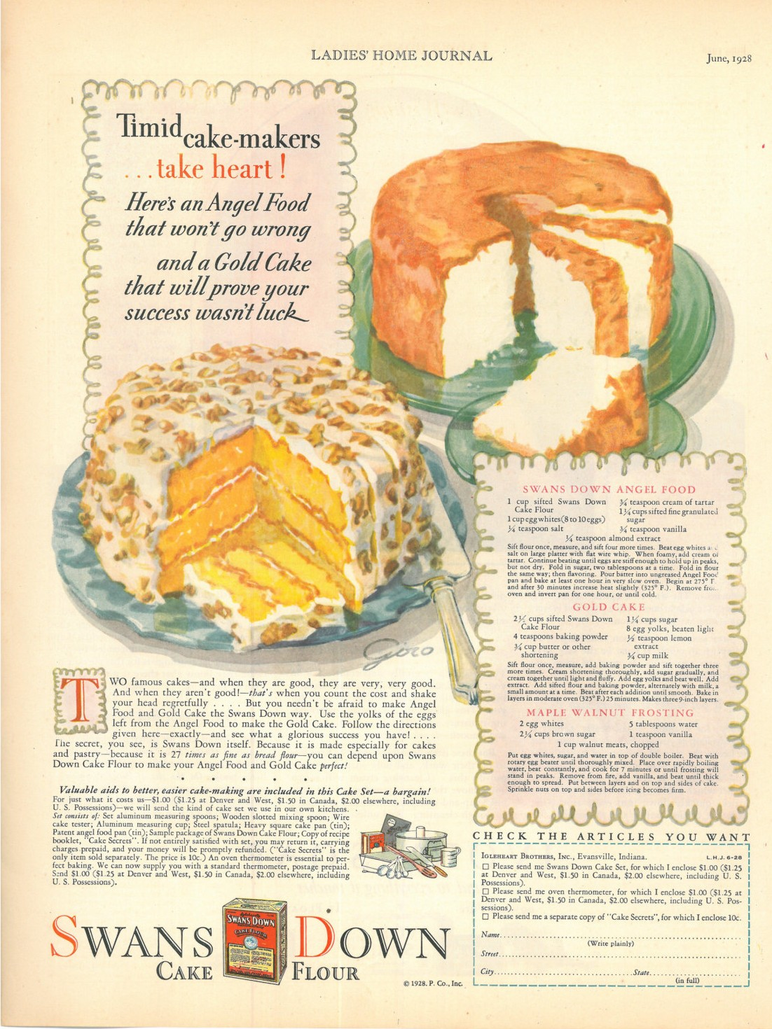 2 old fashioned cake recipes frugal sos timid cake makerstake heart heres an angel food cake that wont go wrong and a gold cake that will prove your success wasnt luck forumfinder Images