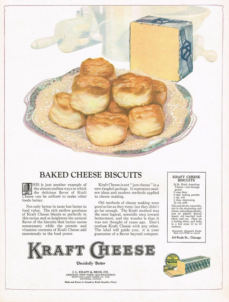 Kraft Cheese Biscuits Recipe