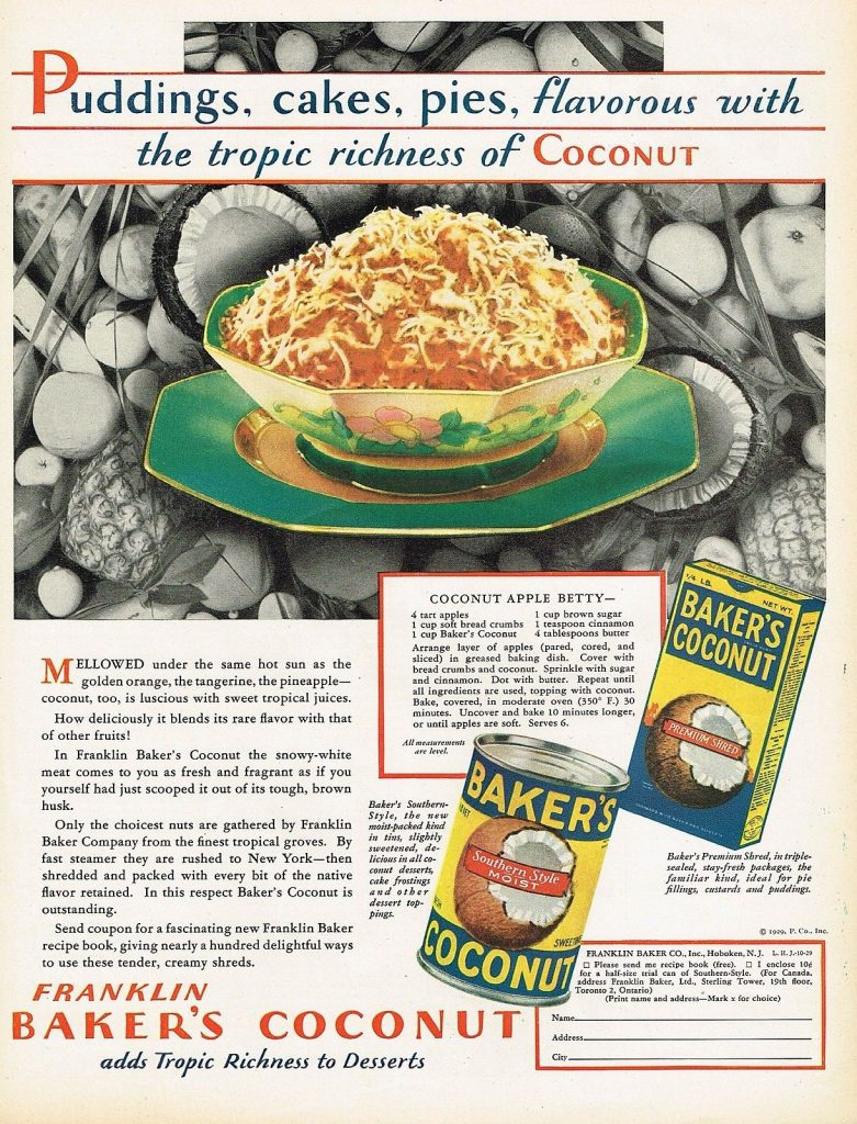 coconut apple betty