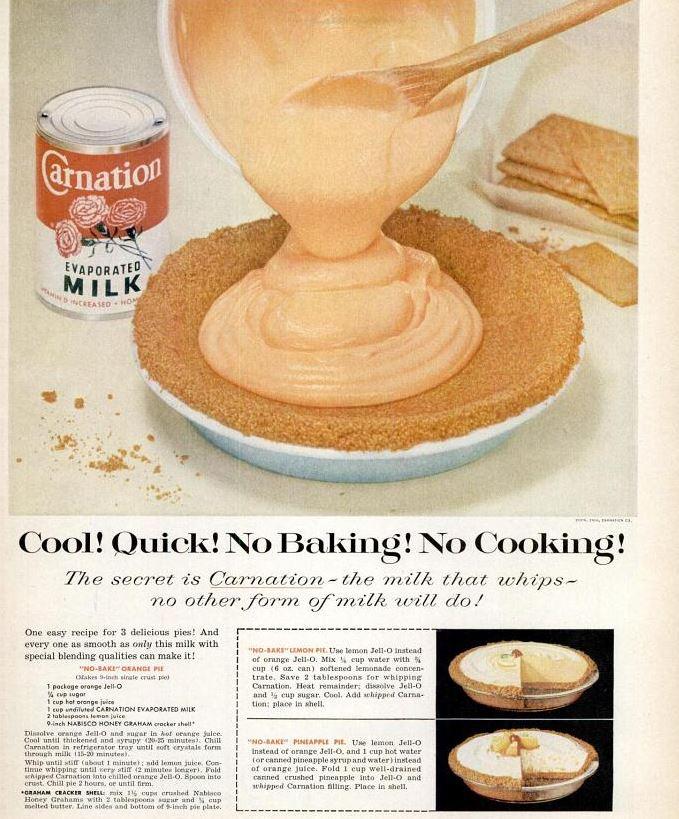 No Bake Orange Pie