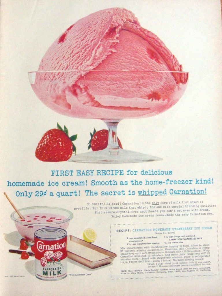 Carnation Homemade Strawberry Ice Cream