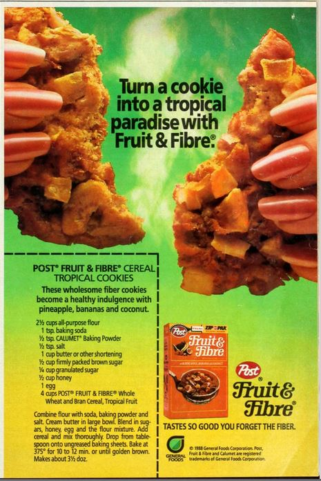 Fruit and Fiber Cookies