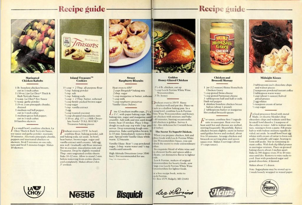 recipes from popular brands