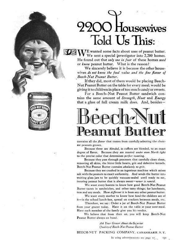 beech-nut peanut butter cookbook