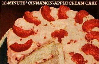 Cinnamon Apple Cream Cake