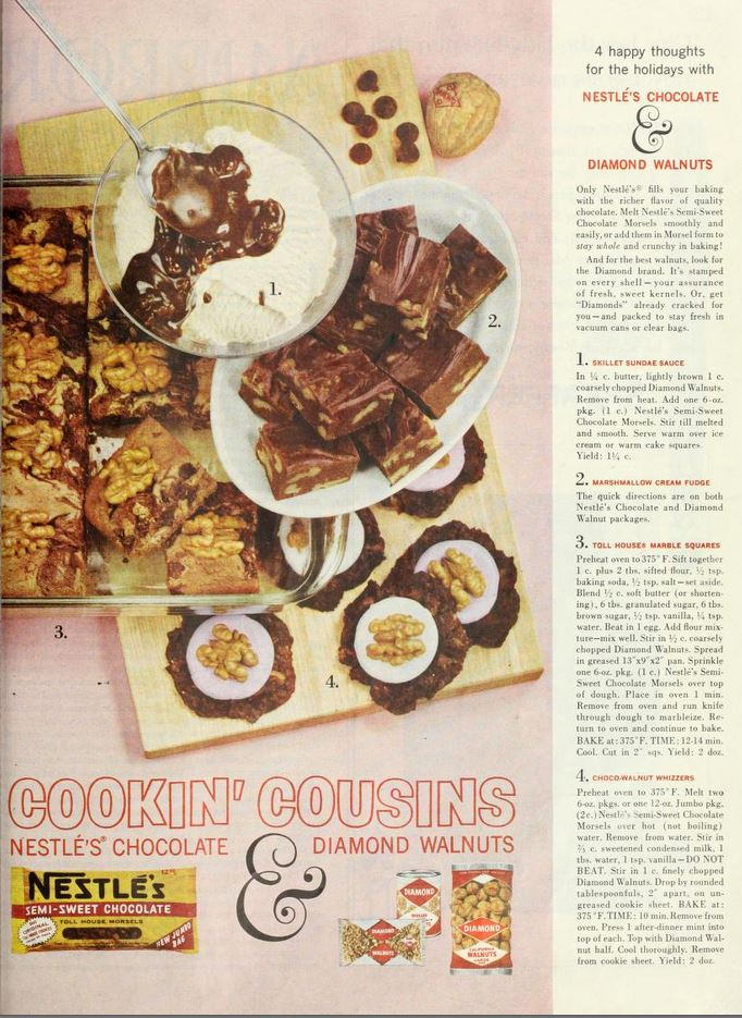 Nestle's and Diamond Walnuts Cookin' Cousins Recipes