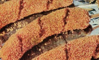 Corn Flake Crusted Hot Dogs