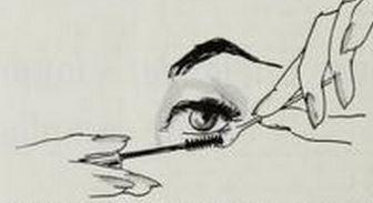 How to Apply Mascara 1964