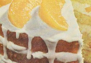 Peach Velvet Cream Cake