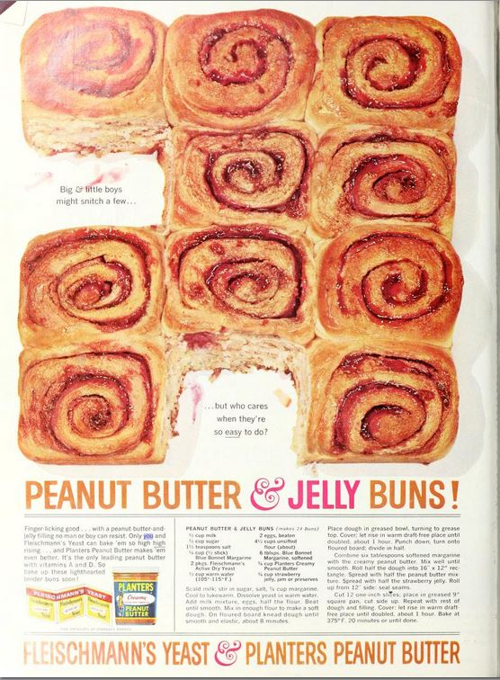 peanut butter and jelly buns