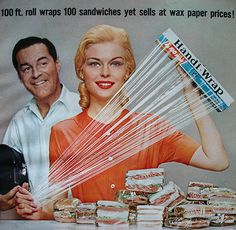 1962 Woman's Day ad for Handi Wrap
